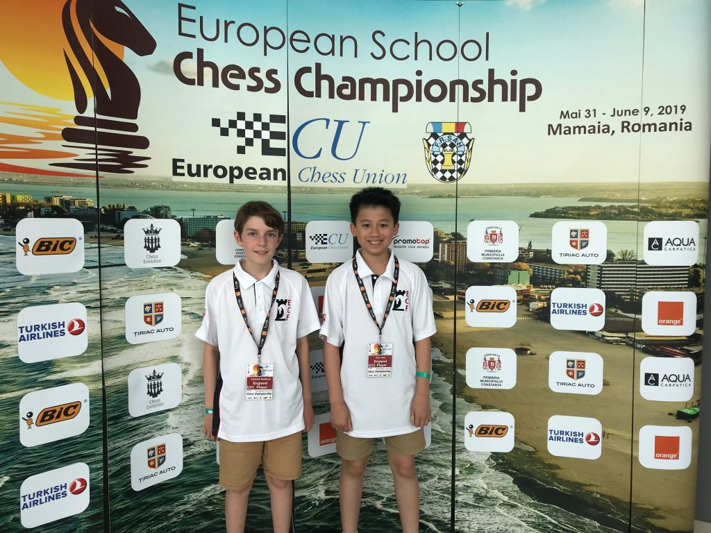 Matthew and Toby European chess